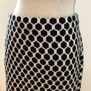 NWT Banana Republic BLK/IVY Honeycomb Skirt M